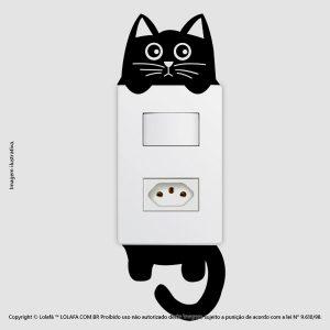 Adesivo De Interruptor Gatinho Mod:24