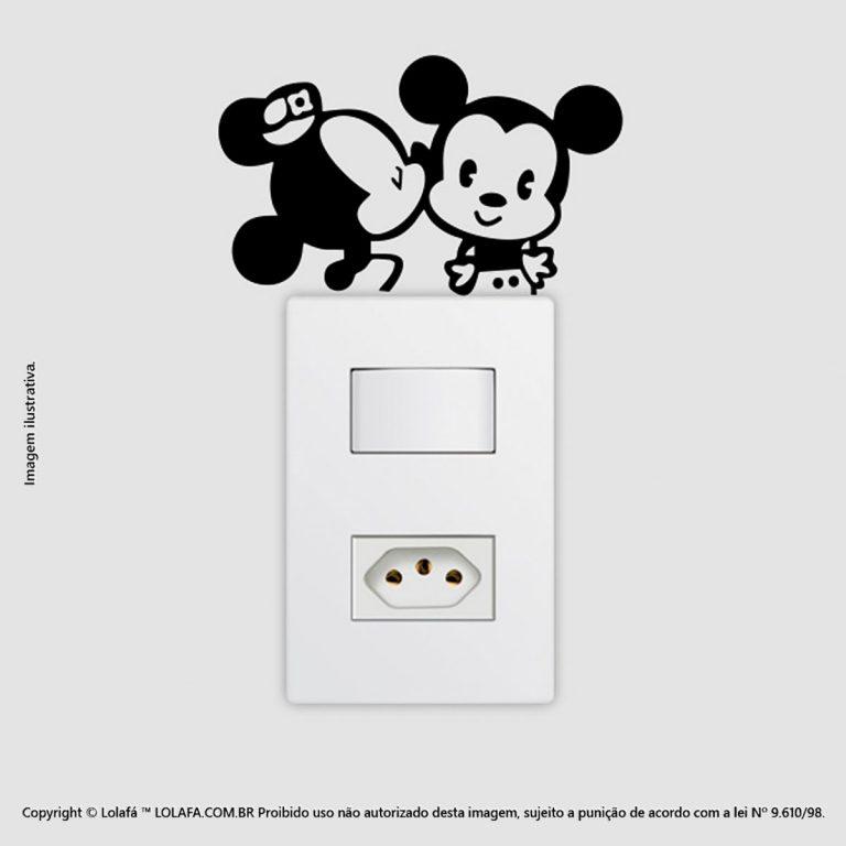 Adesivo Interruptor Mickey e Minnie Mod:41