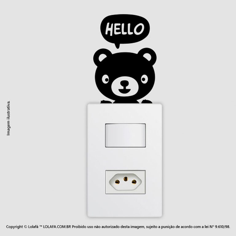 Adesivo Interruptor Ursinho Mod:47