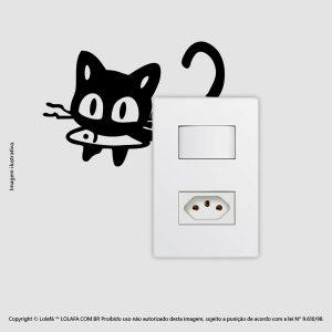 Adesivo Para Interruptor Gatinho Mod:57