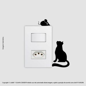 Adesivo Interruptor Gatinho Mod:59