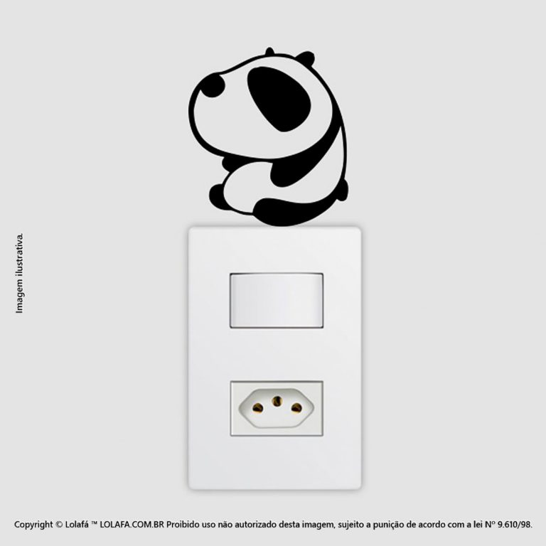 Adesivo De Interruptor Pandinha Mod:66