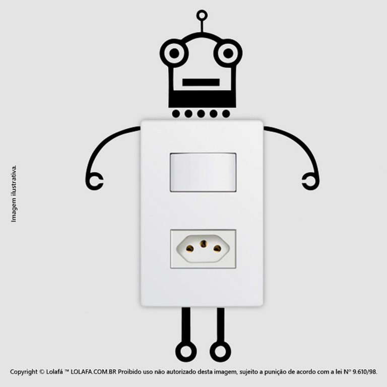 Adesivo Interruptor Robô Mod:89