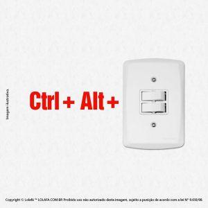 Adesivo De Interruptor Ctrl + Alt + Del Mod:102