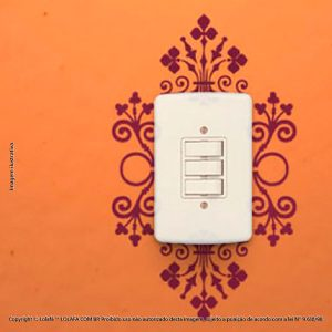 Adesivo De Interruptor Arabescos Mod:132