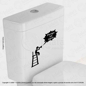 Adesivo Para Vaso Sanitário Perigo Mod:6