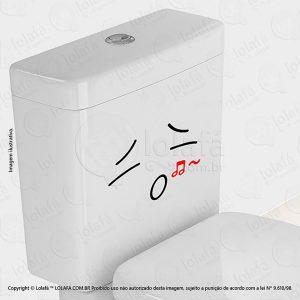 Adesivo Para Vaso Sanitario Rosto Mod:15