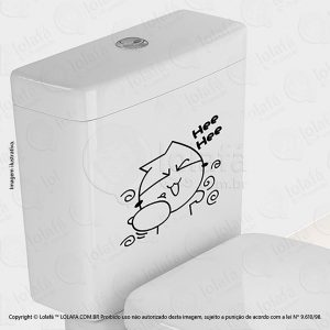 Adesivo Para Vaso Sanitário Gatinho Mod:56