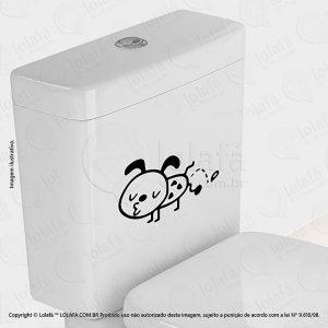 Adesivo Para Vaso Sanitário Cachorrinho Mod:66