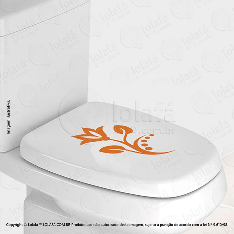 Adesivo Para Vaso Sanitário Flor Mod:81