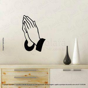 Adesivo Para Parede Religiosos Mãos Rezando Mod:70