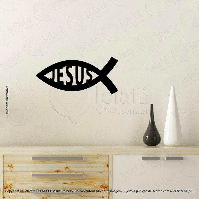 Adesivo Religiosos Peixe de Jesus Mod:81
