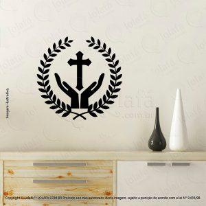 Adesivos Personalizados Religiosos Cruz Mod:84