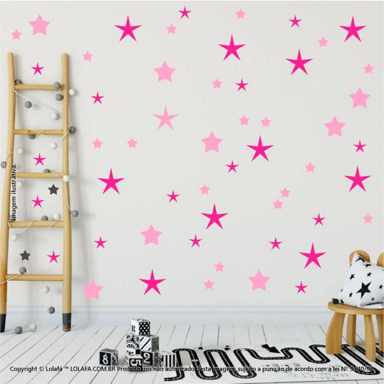Kit Cartela Adesivo Quarto Infantil Estrelas Mod:18