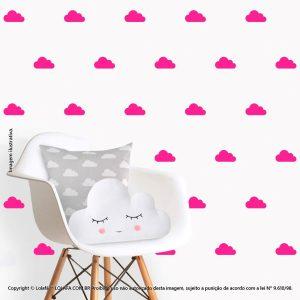 Kit Cartela Adesivos Infantis De Parede Nuvens Mod:83
