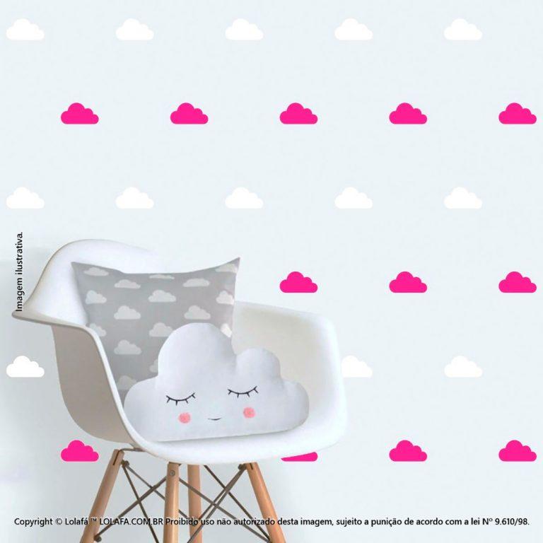 Kit Cartela Adesivo Parede Quarto Bebe Nuvens Mod:85
