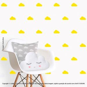 Kit Cartela Adesivo Infantil Parede Nuvens Mod:88