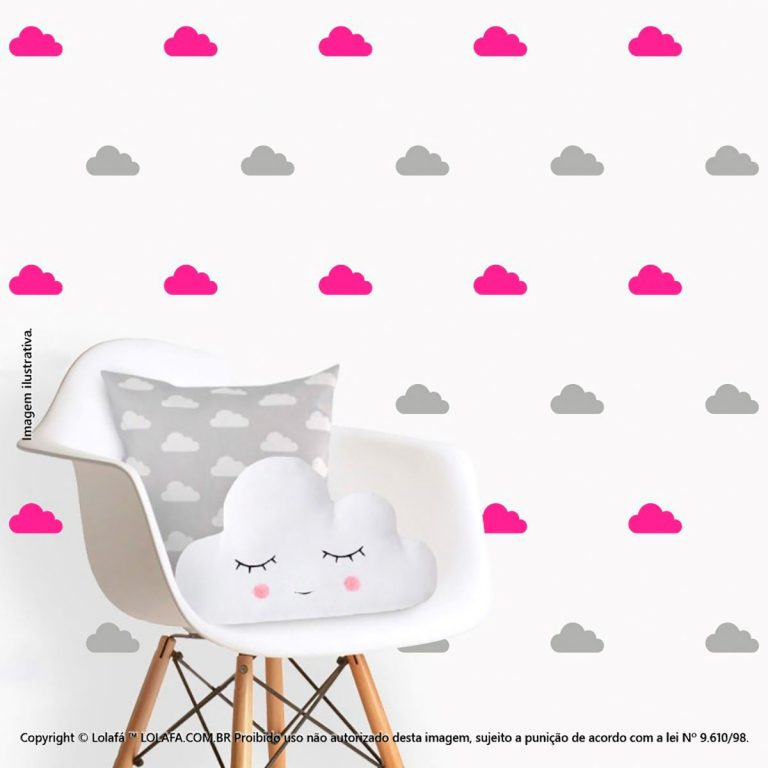 Kit Cartela Adesivo Decorativo Infantil Nuvens Mod:93