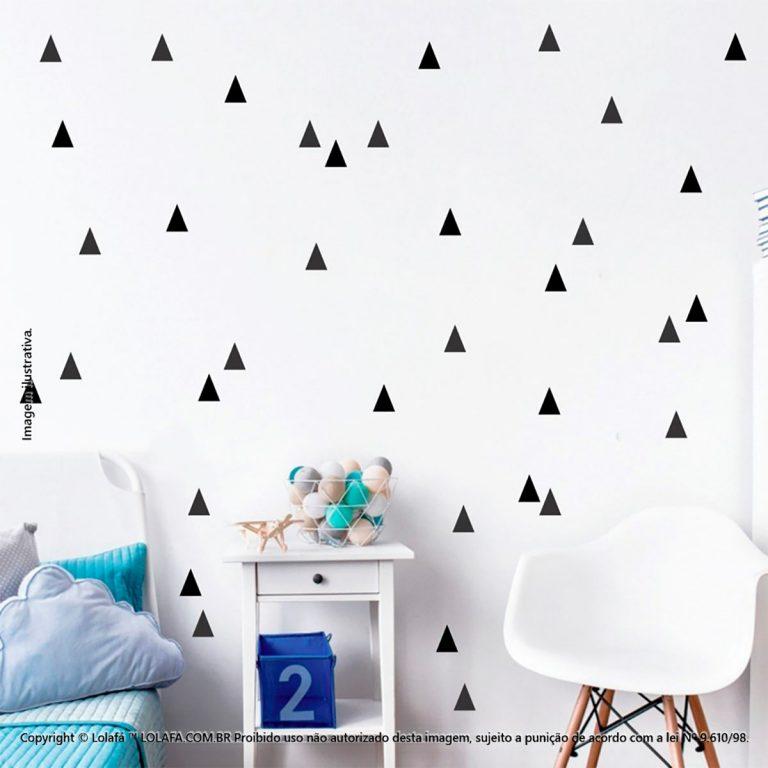 Kit Cartela Adesivos Para Decorar Quarto De Bebe Triângulos Mod:105