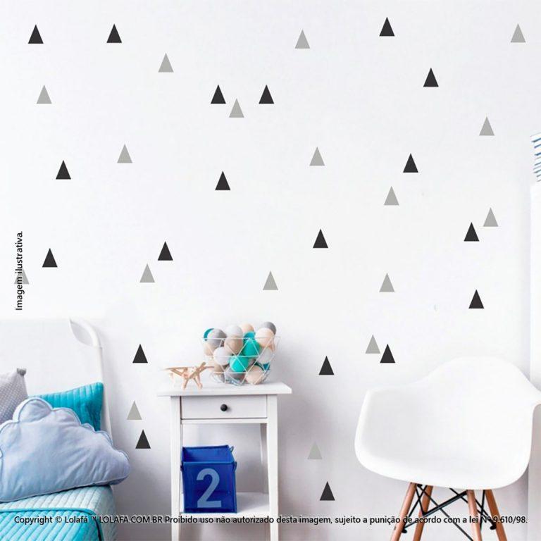 Kit Cartela Adesivos De Paredes Infantil Triângulos Mod:112