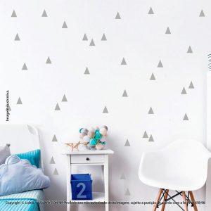 Kit Cartela Adesivo Infantil Triângulos Mod:115