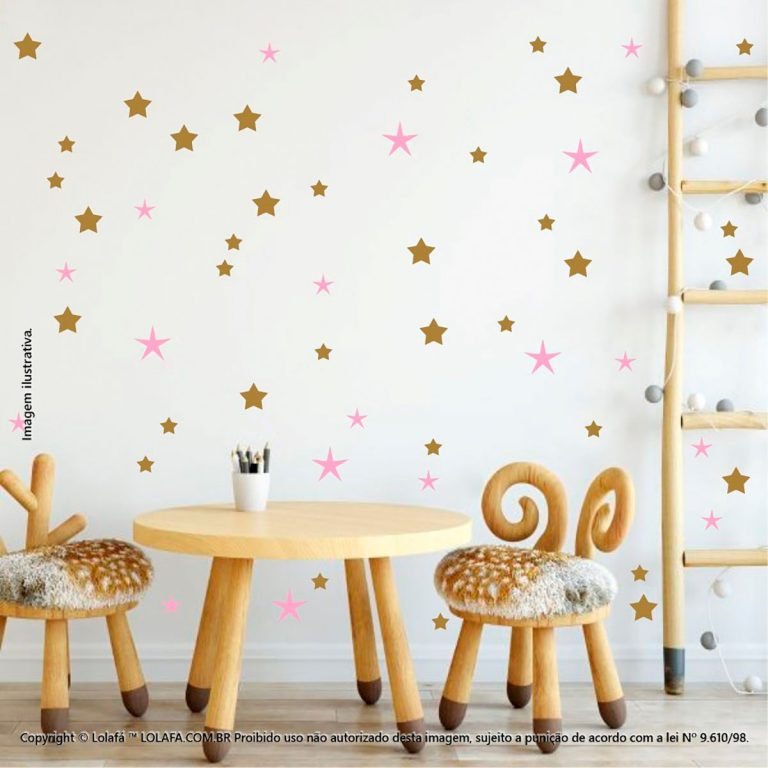 Kit Cartela Adesivo Parede Infantil Estrelas Mod:118