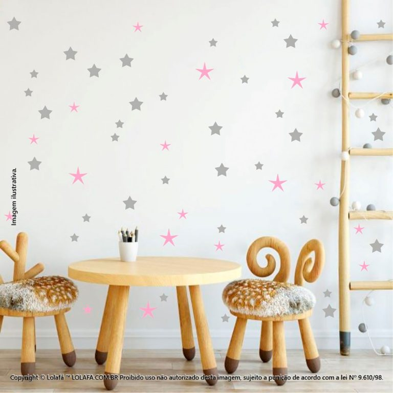 Kit Cartela Adesivo Quarto Infantil Estrelas Mod:126