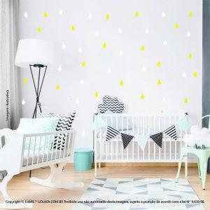 Kit Cartela Adesivos Infantil Parede Gotas Mod:145