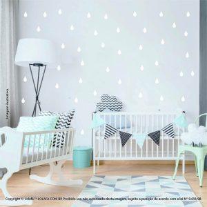 Kit Cartela Adesivo Decorativo Infantil Gotas Mod:147