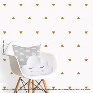 Kit Cartela Adesivos De Parede Infantis Triângulos Mod:219