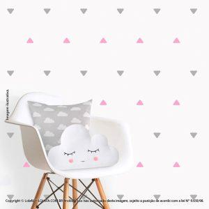 Kit Cartela Adesivo Infantil Triângulos Mod:223