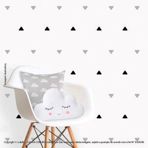 Kit Cartela Adesivo Quarto Bebe Triângulos Mod:228
