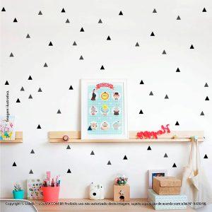 Kit Cartela Adesivo De Parede Quarto Bebe Triângulos Mod:258
