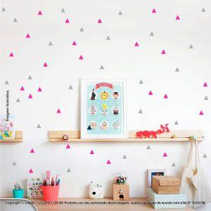 Kit Cartela Adesivo De Quarto Infantil Triângulos Mod:260