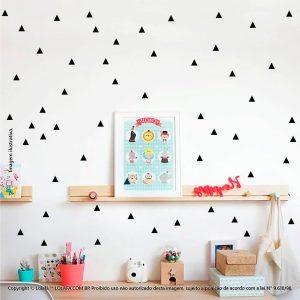 Kit Cartela Adesivos De Paredes Infantil Triângulos Mod:274