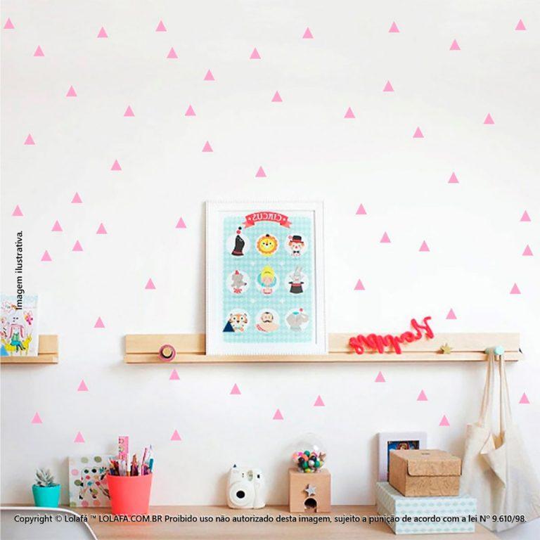 Kit Cartela Adesivos Para Quarto De Bebe Triângulos Mod:275