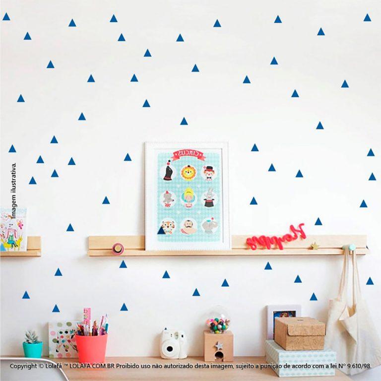 Kit Cartela Adesivo Infantil Triângulos Mod:277