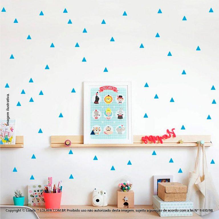 Kit Cartela Adesivo Parede Infantil Triângulos Mod:280