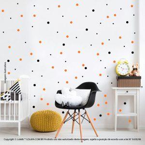 Kit Cartela Adesivo Infantil Para Parede Bolinhas Mod:401
