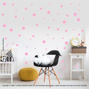 Kit Cartela Adesivo Decorativo Infantil Estrelas Mod:417