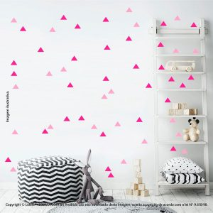Kit Cartela Adesivo De Quarto Infantil Triângulos Mod:422