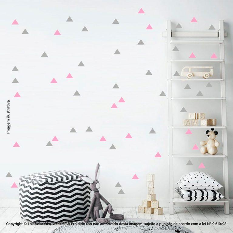 Kit Cartela Adesivos De Quarto Infantil Triângulos Mod:423