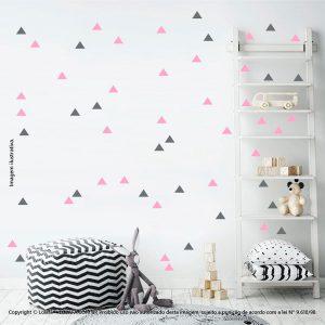 Kit Cartela Adesivos Decorativos Infantil Triângulos Mod:424