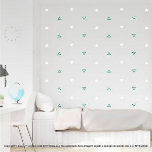 Kit Cartela Adesivo Infantil Para Parede Triângulos Mod:455