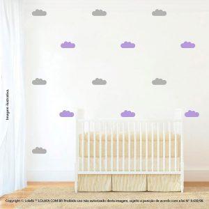 Kit Cartela Adesivos De Parede Infantis Nuvens Mod:489