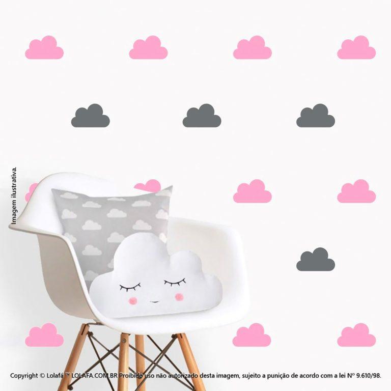 Kit Cartela Adesivos Para Quarto De Bebe Nuvens Mod:491
