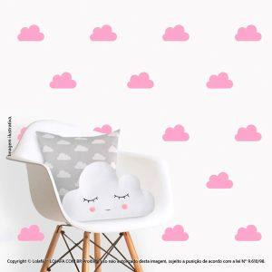 Kit Cartela Adesivo Infantil Nuvens Mod:493