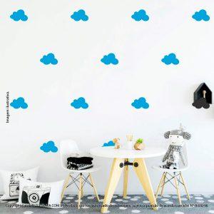 Kit Cartela Adesivo Infantil Para Parede Nuvens Mod:509