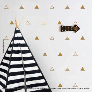 Kit Cartela Adesivo Para Parede Infantil Triângulos Mod:665
