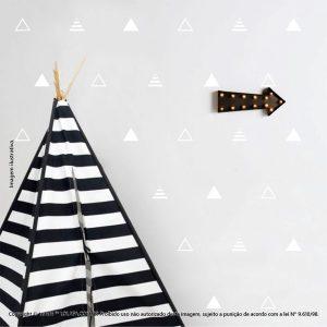 Kit Cartela Adesivos Quarto Infantil Triângulos Mod:668